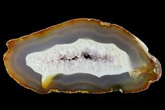 "Buy 7.6"" Polished Brazilian Agate Slab with Amethyst - #145501"