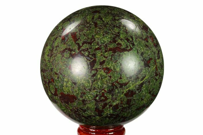 "2.85"" Polished Dragon's Blood Jasper Sphere - South Africa"
