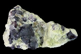"2.95"" Purple-Blue Cubic Fluorite Crystals - Inner Mongolia For Sale, #146945"