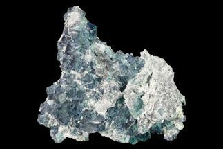 "Buy 4.4"" Colorful Cubic Fluorite Crystals on Dolomite - China - #146899"