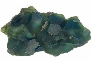 "5.8"" Blue-Green Cuboctohedral Fluorite Crystal Cluster - China For Sale, #147086"