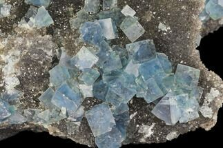 "3.5"" Blue-Green Cubic Fluorite on Smoky Quartz - China For Sale, #147092"