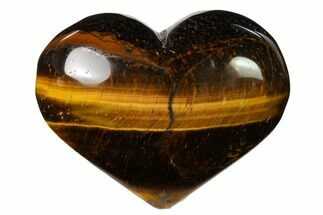 "2.85"" Polished Tiger's Eye Heart For Sale, #148748"