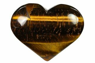 "3.1"" Polished Tiger's Eye Heart For Sale, #148736"