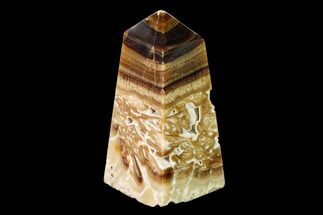 "Buy 3.4"" Polished Chocolate Calcite Tower - Pakistan - #149488"