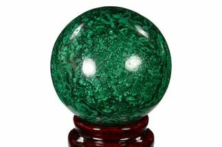 "Buy 2.25"" Flowery, Polished Malachite Sphere - Congo - #150235"