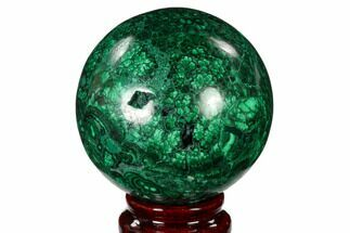 "2.75"" Flowery, Polished Malachite Sphere - Congo For Sale, #150242"