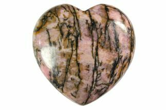 "1.2"" Polished Rhodonite Hearts For Sale, #150380"