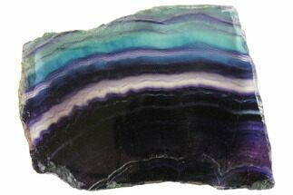 "Colorful, 5"" Polished Rainbow Fluorite Slab For Sale, #150788"