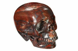"3"" Realistic, Polished Red Picture Jasper Skull  For Sale, #150959"