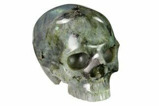 "Buy 3"" Realistic, Polished Labradorite Skull - Madagascar - #151063"