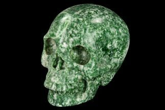 "Buy 3"" Realistic, Polished Hamine Jasper Skull - #151234"