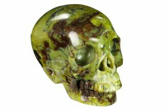 "Buy 3"" Realistic, Polished ""Yellow Turquoise"" Jasper Skull - Magnetic - #151102"