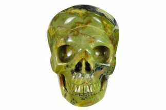 "3"" Realistic, Polished ""Yellow Turquoise"" Jasper Skull - Magnetic For Sale, #151103"