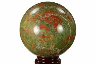 "Buy 3.3"" Polished Unakite Sphere - South Africa - #151921"