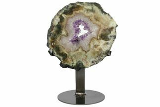 "6.8"" Amethyst & Agate Slab on Metal Stand - Artigas, Uruguay For Sale, #151163"