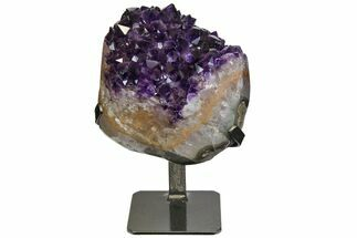 "Buy 6.3"" Amethyst Geode Section With Metal Stand - Uruguay - #152209"