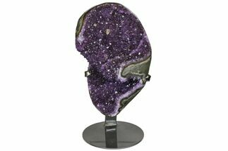 "9.1"" Amethyst Geode Section With Metal Stand - Uruguay For Sale, #152210"