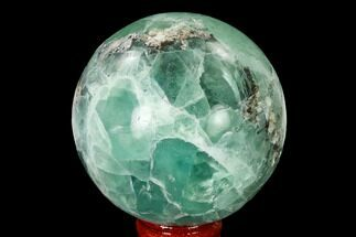 "2.8"" Polished Green Fluorite Sphere - Mexico For Sale, #153368"