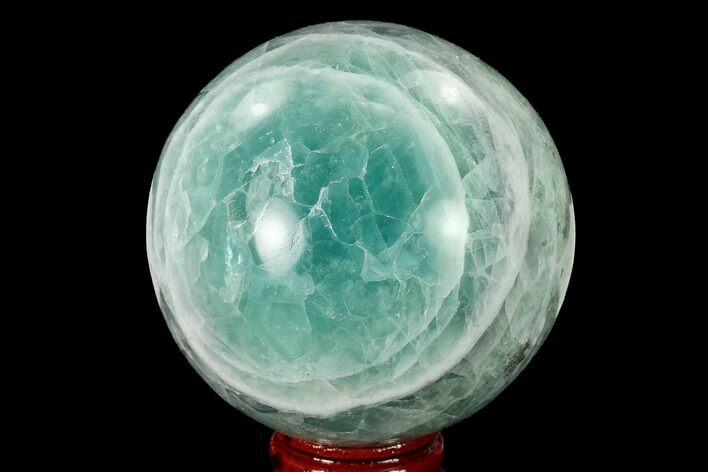 "2.75"" Polished Green Fluorite Sphere - Mexico"