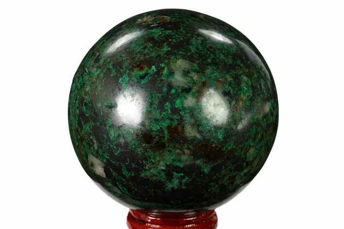 "2.6"" Polished Malachite & Chrysocolla Sphere - Peru"