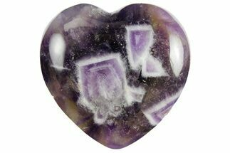 "1.2"" Polished Chevron Amethyst Hearts For Sale, #157373"