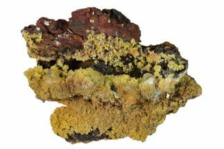 Mimetite & Calcite - Fossils For Sale - #157083
