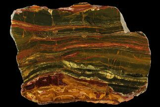 "9.6"" Polished ""Packsaddle"" Tiger Eye Slab - Western Australia For Sale, #158162"