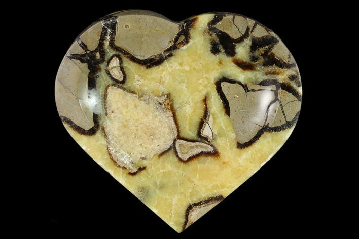 "7.9"" Polished, Heart-Shaped Septarian Dish - Madagascar"