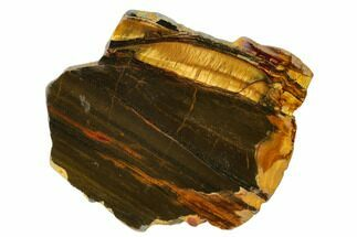 "4.6"" Marra Mamba Tiger's Eye Slab - Mt. Brockman (2.7 Billion Years) For Sale, #161930"