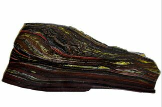 "Buy 7.4"" Polished Tiger Iron ""Stromatolite"" Slab - 3.02 Billion Years - #162091"