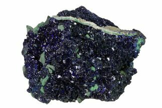 "2.1"" Sparkling Azurite Crystals with Malachite - Laos For Sale, #162584"