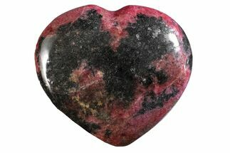 "3.2"" Polished Rhodonite Heart - Madagascar For Sale, #160454"