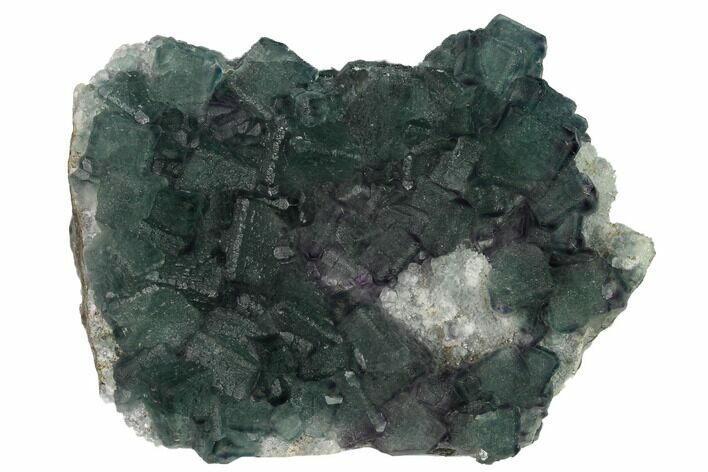 "5.8"" Multicolored Fluorite Crystals on Quartz - China"