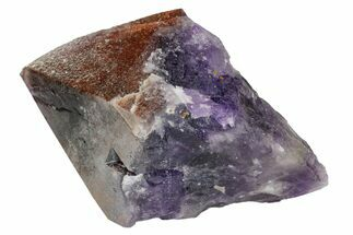 "Buy 6.9"" Red Cap Amethyst Crystal - Thunder Bay, Ontario - #164431"