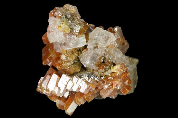 "1.3"" Vanadinite and Calcite Crystal Association - Apex Mine, Mexico"