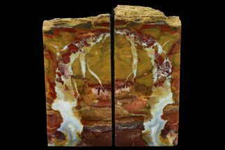"5.6"" Tall, Red And Yellow Jasper Bookends - Marston Ranch, Oregon For Sale, #166072"