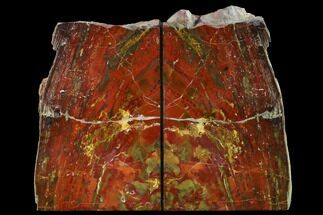 "8.5"" Tall, Red And Yellow Jasper Bookends - Marston Ranch, Oregon For Sale, #166088"