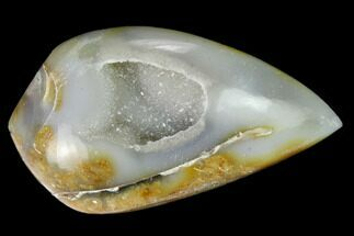 "1.4"" Chalcedony Replaced Gastropod With Druzy Quartz - India For Sale, #166278"