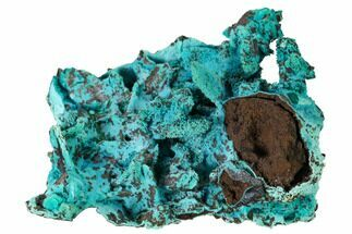"3.2"" Chrysocolla and Malachite Pseudomorph - Lupoto Mine, Congo For Sale, #167669"
