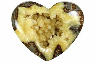 "4.3"" Polished Utah Septarian Heart - Beautiful Crystals For Sale, #167858"