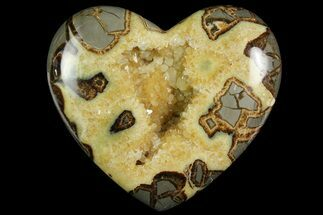 "7.5"" Polished Utah Septarian Heart - Beautiful Crystals For Sale, #167864"