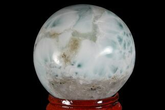 "1.5"" Polished Larimar Sphere - Dominican Republic For Sale, #168155"