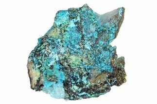 "1.6"" Botryoidal Chrysocolla on Quartz - Tentadora Mine, Peru For Sale, #169238"
