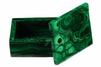 "2.15"" Polished Malachite Jewelry Box - Congo For Sale, #169859"