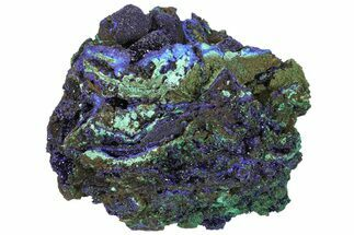 "Buy 5.5"" Sparkling Azurite Crystals with Malachite - Laos - #170029"