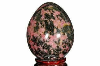 "2.7"" Polished Rhodonite Egg - Madagascar For Sale, #172502"