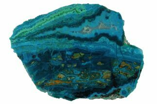 "Buy 3.5"" Polished Banded Chrysocolla and Malachite - Bagdad Mine, Arizona - #175522"