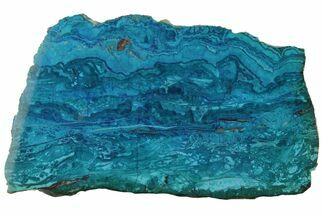 "Buy 4.3"" Polished Banded Chrysocolla - Bagdad Mine, Arizona - #175525"