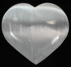 "Wholesale Box: 2-1/4"" Selenite Hearts - 100 Pieces"
